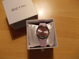 Watch With Leather Strap light grey