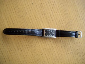Fossil Watch With Leather Strap black leather