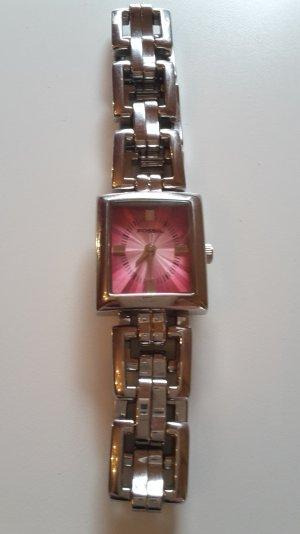 Armbanduhr von Fossil in Pink/Silber