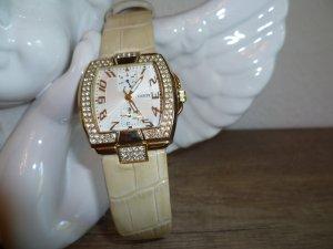 Guess Reloj con pulsera de cuero color oro-beige Cuero