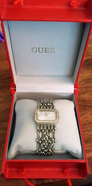 Armbanduhr von GUESS silber