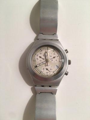 Armbanduhr von SWATCH, Damenuhr, silberfarben