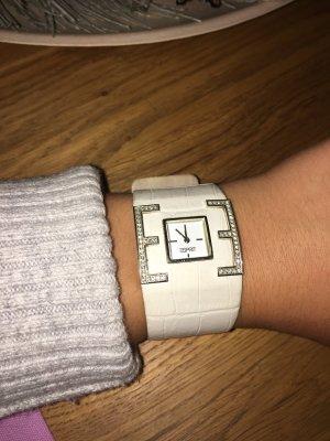 Armbanduhr weiß / Lederarmband