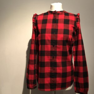 armedangels Checked Blouse black-red