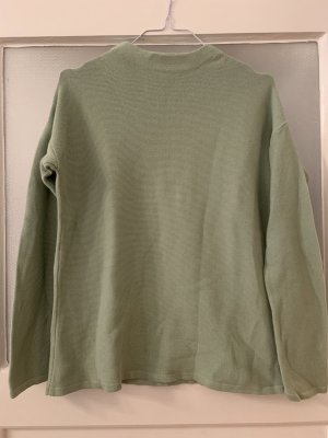 armedangels Turtleneck Sweater pale green cotton