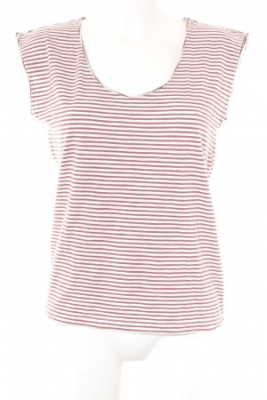 armedangels Basic Top white-russet striped pattern casual look
