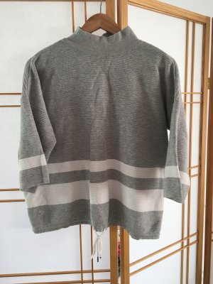 armedangels Knitted Sweater light grey-white cotton