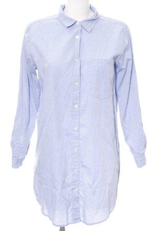 armedangels Blusenkleid himmelblau-weiß Punktemuster Casual-Look