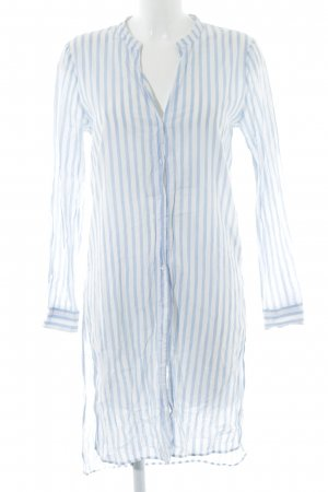 armedangels Blouse Dress white-azure striped pattern casual look