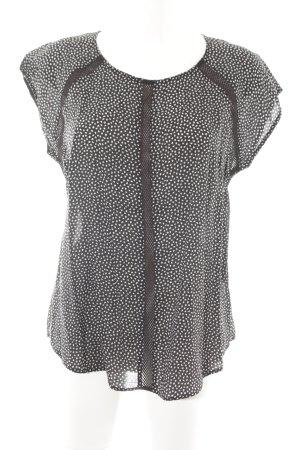 armedangels Blusentop schwarz-weiß grafisches Muster Casual-Look