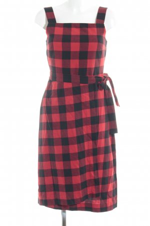 armedangels Shirtwaist dress red-black cotton