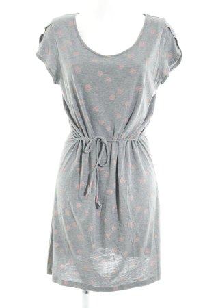 armedangels Jersey Dress grey-dusky pink abstract pattern casual look