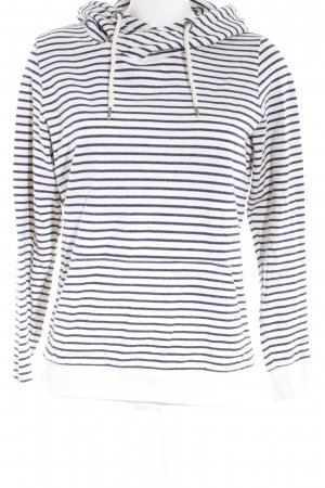 armedangels Hooded Sweater white-blue striped pattern casual look