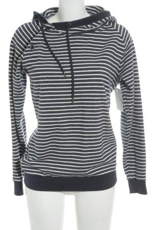 armedangels Kapuzensweatshirt dunkelblau-weiß Ringelmuster Casual-Look