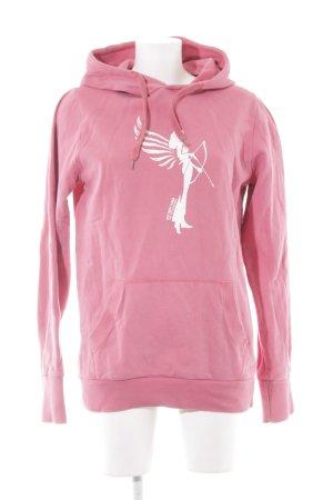armedangels Hooded Sweatshirt pink themed print casual look