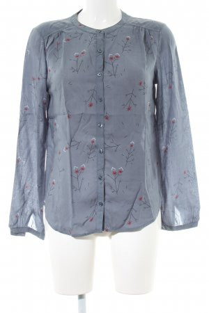 armedangels Long Sleeve Blouse light grey graphic pattern business style