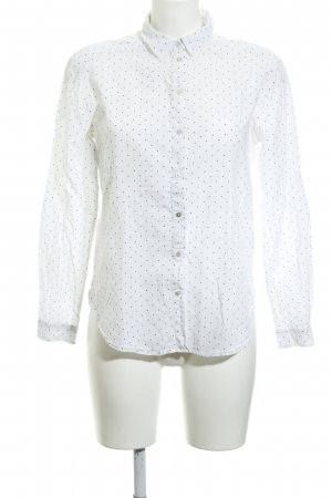 armedangels Long Sleeve Blouse white-dark blue star pattern casual look