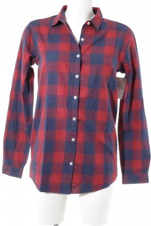 armedangels Long Sleeve Shirt red-dark blue check pattern boyfriend style