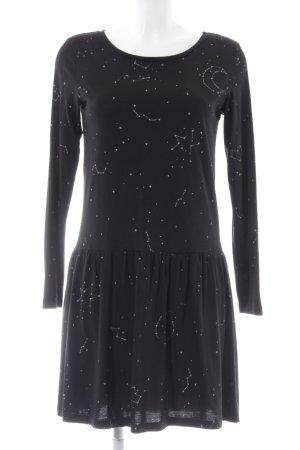 armedangels Longsleeve Dress black-white allover print casual look