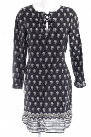 armedangels Longsleeve Dress dark blue-white floral pattern retro look
