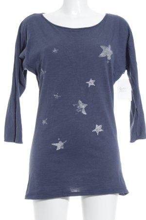 armedangels Longpullover stahlblau Sternenmuster schlichter Stil
