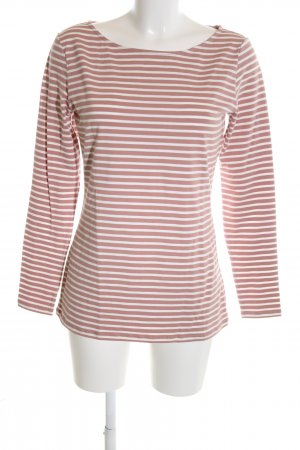 armedangels Longsleeve nude-white striped pattern casual look