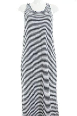 armedangels Maxi abito bianco-blu scuro motivo a righe