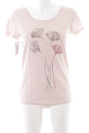 armedangels Print-Shirt pink Motivdruck schlichter Stil