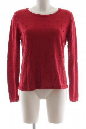 armedangels Crewneck Sweater red spot pattern casual look