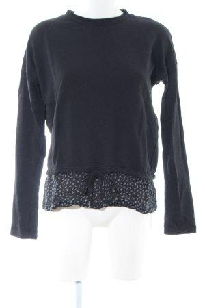 armedangels Crewneck Sweater black allover print casual look
