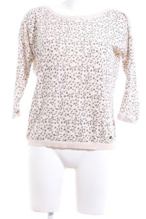 armedangels Crewneck Sweater cream-light grey flower pattern casual look
