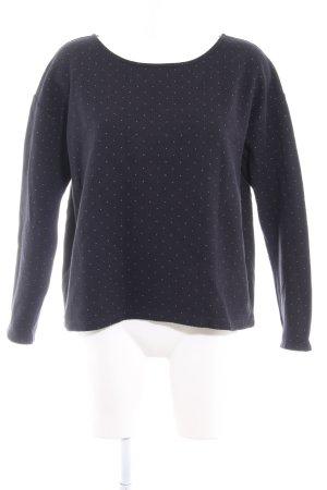 armedangels Crewneck Sweater dark blue-azure spot pattern casual look
