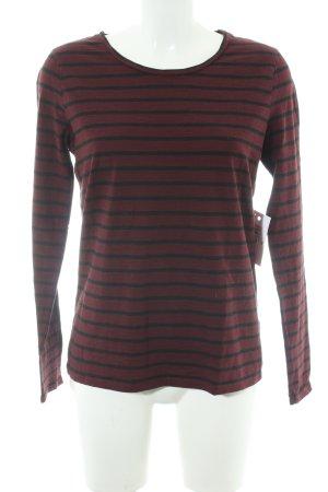 armedangels Crewneck Sweater black-dark red striped pattern casual look