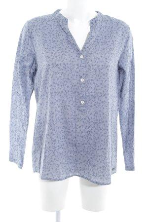armedangels Slip-over Blouse azure-steel blue floral pattern casual look