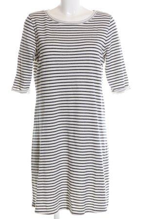 armedangels Shirtkleid schwarz-weiß Streifenmuster Casual-Look