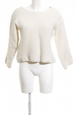 armedangels Strickpullover wollweiß Zopfmuster Casual-Look
