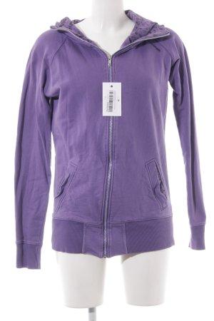 armedangels Sweat Jacket grey violet-black themed print casual look