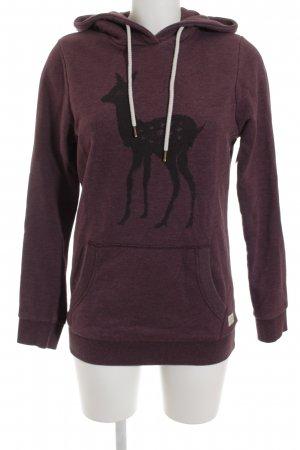armedangels Sweatshirt graulila-taupe Motivdruck Casual-Look