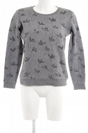 armedangels Sweatshirt hellgrau-grau florales Muster Casual-Look