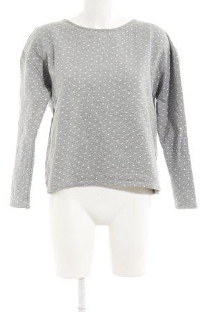 armedangels Felpa grigio chiaro-bianco motivo a pallini stile casual