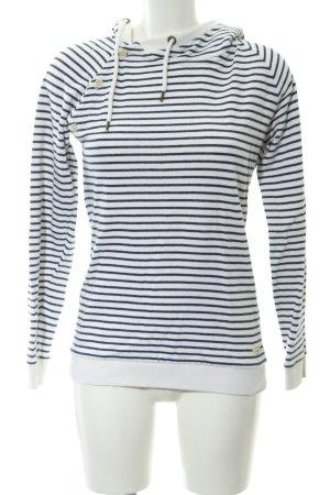 armedangels Sweat Shirt white-dark blue striped pattern casual look