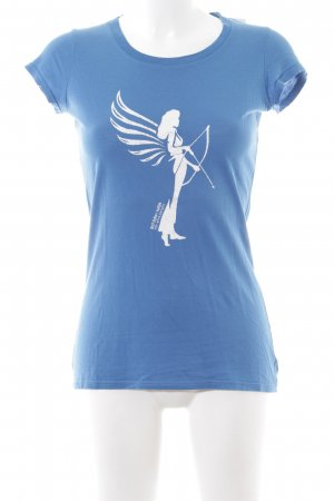 armedangels T-Shirt blue-white casual look