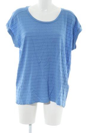 armedangels T-Shirt blue striped pattern casual look