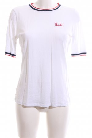 armedangels T-Shirt white striped pattern jeans look