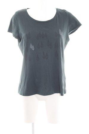 armedangels T-Shirt khaki Schriftzug gedruckt Casual-Look