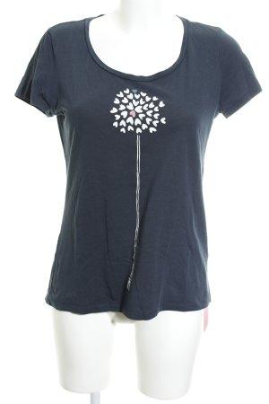 armedangels T-Shirt dunkelblau Motivdruck Casual-Look