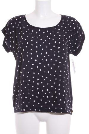armedangels T-Shirt dunkelblau-weiß Punktemuster klassischer Stil
