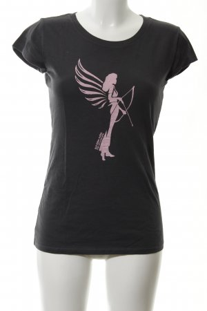 armedangels T-shirt grigio scuro Stampa a tema stile casual