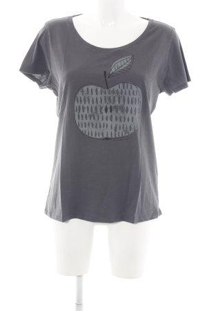 armedangels T-Shirt light grey themed print casual look