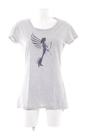 armedangels T-Shirt grey themed print casual look